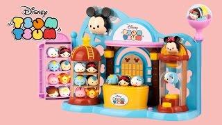 《Toy Show#1》迪士尼疊疊樂商店組合裝+迷你公仔組玩具開箱 Disney Tsum Tsum Toy Shop Playset+Squishy Mini Tsum Tsums