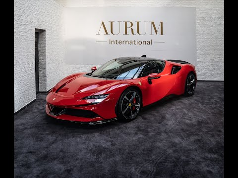 [2021] NEW FERRARI SF90 STRADALE ASSETTO FIORANO ROSSO CORSA Walkaround by AURUM International [4K]
