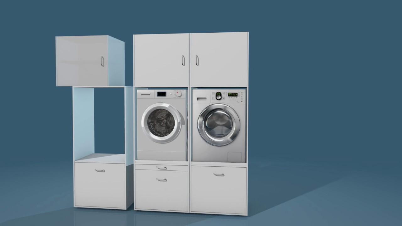 Waschturm waschmaschinenschrank youtube