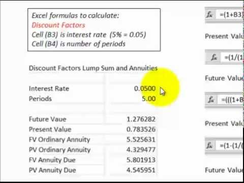 Discounted Cash Flows (Excel Formulas And Cash Flow Diagrams DCF For