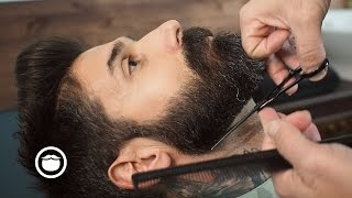 Barbershop Beard Trim & Wet Shave with Narration | Carlos Costa thumbnail