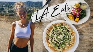 WHAT I EAT IN A DAY VLOG IN LA!   Full Day of Eating Easy Vegan Food!