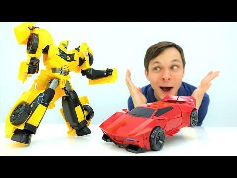 Игры Трансформеры: Автоботы и Десептиконы. Фёдор копирует Бамблби.
