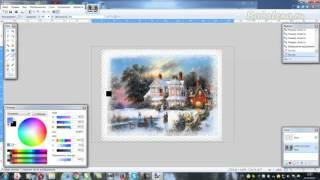 Создаем снежный вырез с помощью эффекта Иней в Paint.net