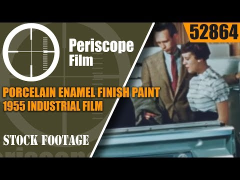 PORCELAIN ENAMEL FINISH PAINT 1955 INDUSTRIAL FILM BY PEMCO  52864