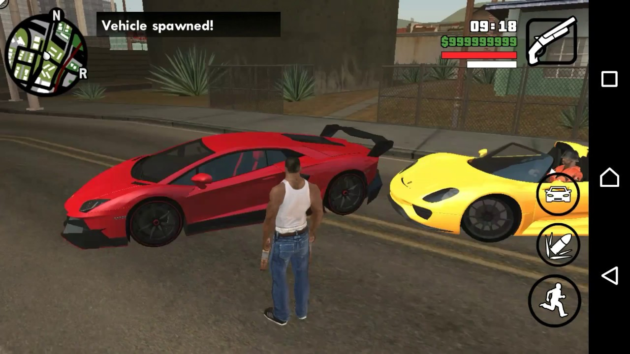 Gta sa android: gta v car pack + link youtube.