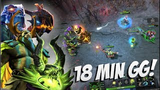 18 MINUTES GG! - Pugna Jakiro Nature Prophete Fast Game by Aui_2000 7.06 - Top Pro Player Dota 2