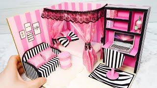 DIY Miniature Cardboard House #15    Victoria's Secret Style Bedroom ^ −☆