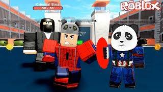 Panda and I Became superheroes and stopped the bad guys!! - Roblox Superhero Simulator