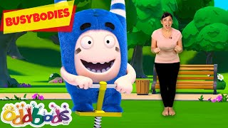 Run & Hop At The Park | Oddbods Busybodies | Exercise for kids