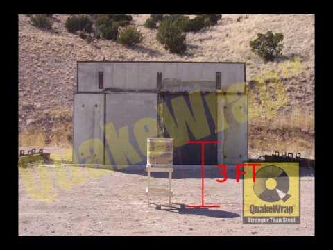 Blast Retrofit of Buildings with CFRP by QuakeWrap