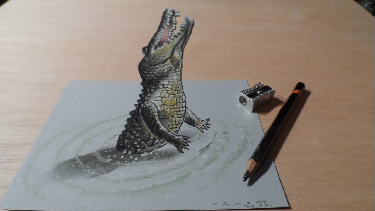 D Pencil Drawings - Artist creates amazing 3d sketches that leap from the paper theyre drawn on