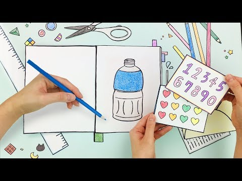 Stop motion of making a drink by paper!! :: selfacoustic