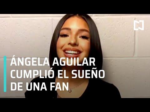 Ángela Aguilar dedica canción a fan con huesos de cristal - Hora 21