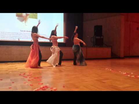 UMass Belly Dance Club Trio to Uptown Funk