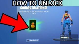 HOW TO UNLOCK the FREE Quack Pack Backbling! Fortnite 14 Days of Summer