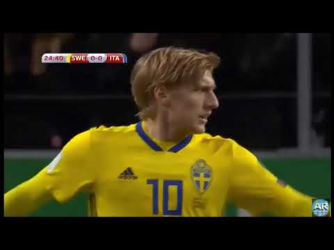 Swedia Vs Itali 1-0. 10 Nov 2017