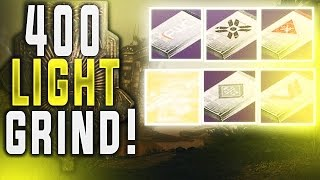 Destiny MASSIVE PACKAGE/EXOTIC ENGRAM OPENING! GRINDING 400 LIGHT! (390-391 DROPS)