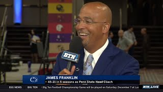 Penn State Coach James Franklin on Young and Confident Team   2019 B1G Football Media Days