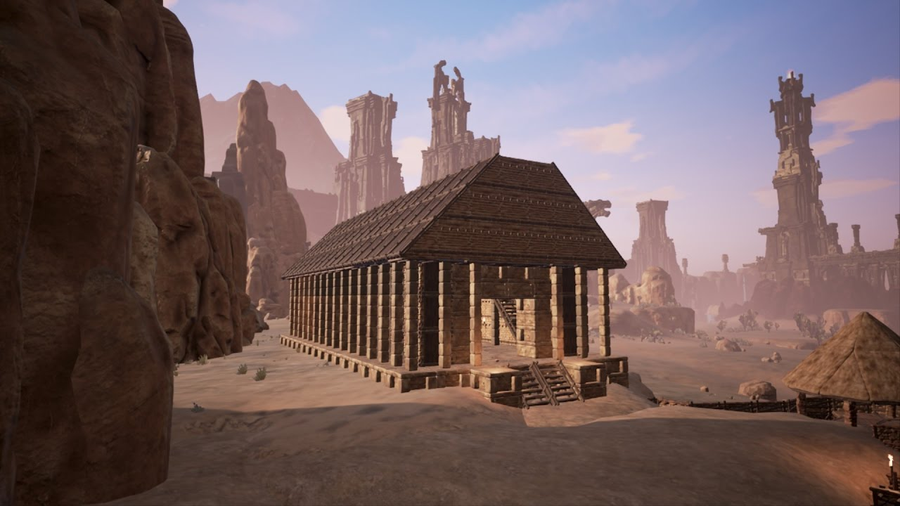 Conan Exiles Town And Temple Youtube