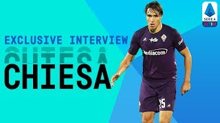Fiorentina and italy's young star federico chiesa talks about paying with his idol franck ribery, following in the footsteps of father enrico playing...