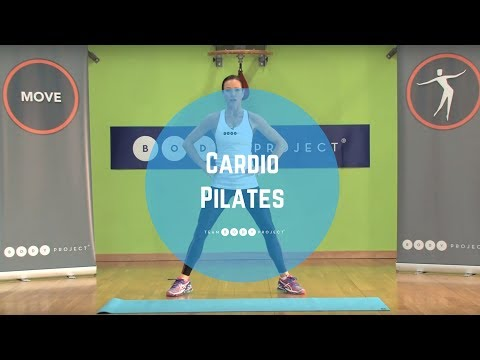 High impact, high energy cardio workout based on Pilates moves