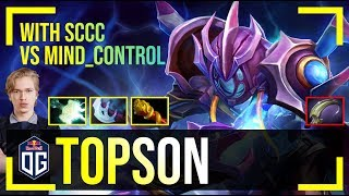 Topson - Arc Warden MID | with sccc (Tiny) |  vs MC (TP) | Dota 2 Pro MMR Gameplay #8