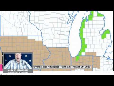 Michigan Weather Forecast - Thursday, April 9, 2020