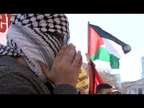 Pro-Palestine Protesters Confront AIPAC 2018