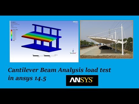 Load test on Cantilever Beam in Ansys Workbench 14.5