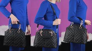 Стеганая женская сумка Bartolini, видео от интернет-магазина, видеообзор | K-SHOP