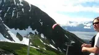 Skydivers At Alyeska Resort In Alaska