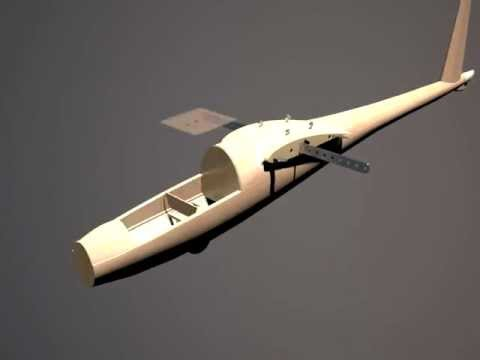 rc glider (inventor, 3ds max)