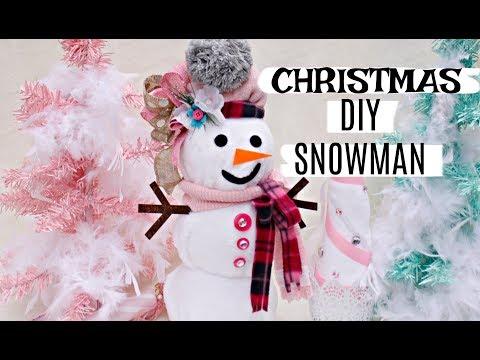 🎄DIY DOLLAR TREE CHRISTMAS SNOWMAN & TREE 🎄