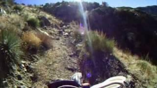 Motorcycle Crash Go Pro Helmet Camera - Cliff Crash  - Snowy Trail Hungry Valley