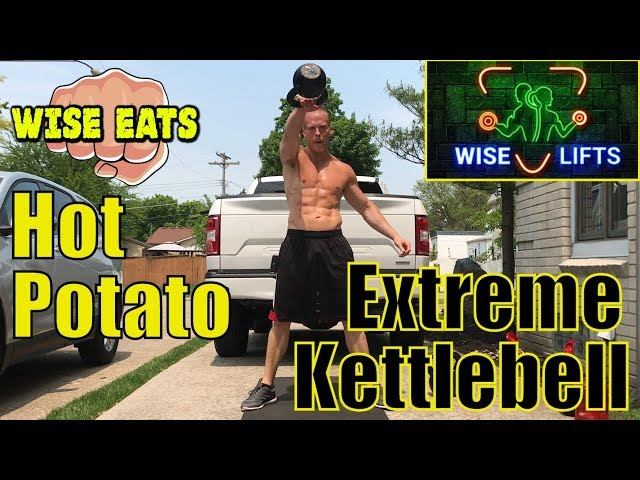 Hot Potato – 7 Minute Extreme Kettlebell HIIT Cardio Workout Session #4 (Wise Lifts)