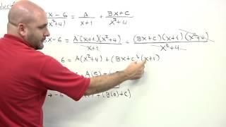 Fracciones parciales - Factor lineal y factor cuadrático