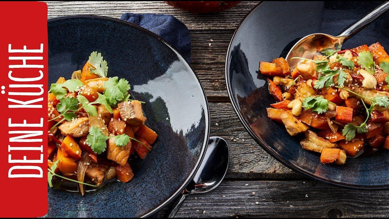 Asiatische Kürbispfanne | REWE Deine Küche