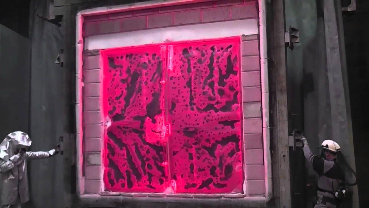 LPS 1175 Steel Security Door UL 10C Fire Test & LPS 1175 Steel Security Door UL 10C Fire Test - YouTube