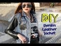 DIY Denim Leather Jacket || Lucykiins