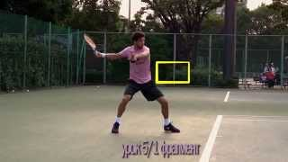 Уроки тенниса. Удар справа. Фрагмент 23-ёх минутного урока.