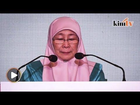 Sebak...ucapan terakhir Wan Azizah sebagai presiden
