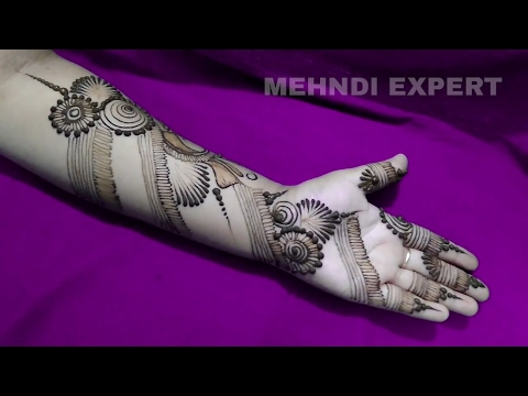 Best Ornament style Arabic Henna Mehndi | Simple Mehendi Designs For Hands Step by step tutorial