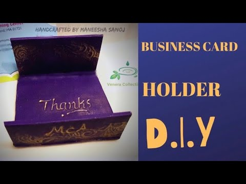 PERSONALIZED BUSINESS CARD HOLDER TUTORIAL DIY #52 thumbnail