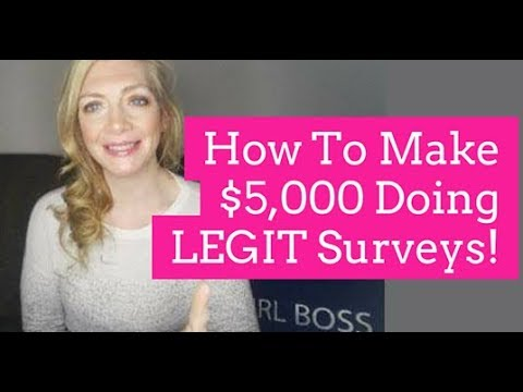 How To Make $5000 doing LEGIT surveys