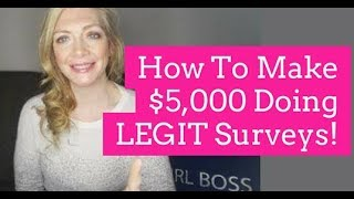 How to make $5000 doing legit surveys! in this video i tell you every single thing will need know happen. promise if follow eve...