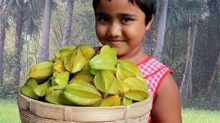 Farm Fresh Carambola Recipe Delicious & Spicy Kamranga Makha Curry Fresh Star Fruit Village Food