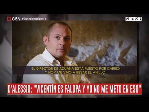 Audio en el que DAlessio habla de Vicentín