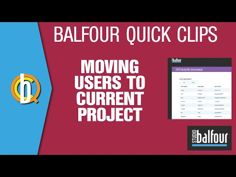 Studio.Balfour: Moving Users to Current Project