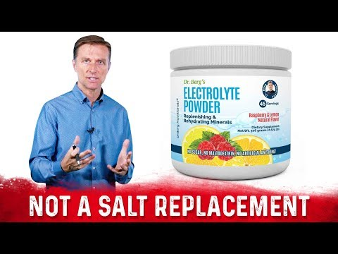 Dr. Berg's Electrolyte Powder, Not a Sodium Electrolyte Replacement
